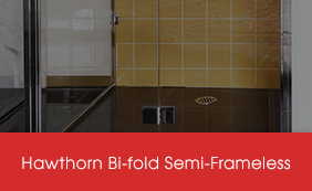 Semi-Frameless Hawthorn Bi-Fold Screens